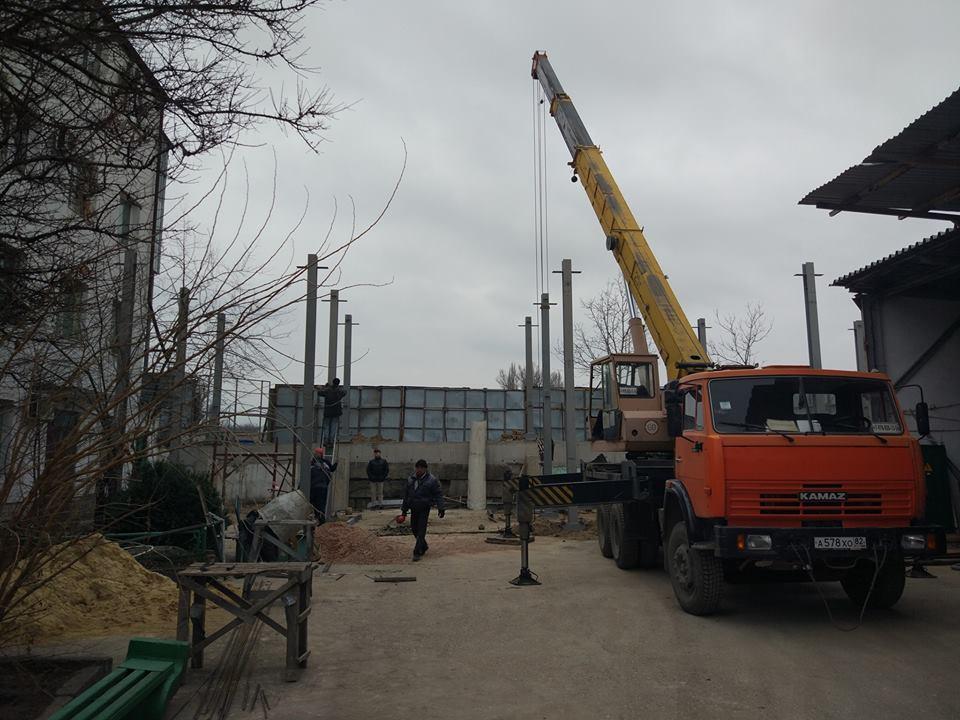 строительство нового административно-хозяйственного здания