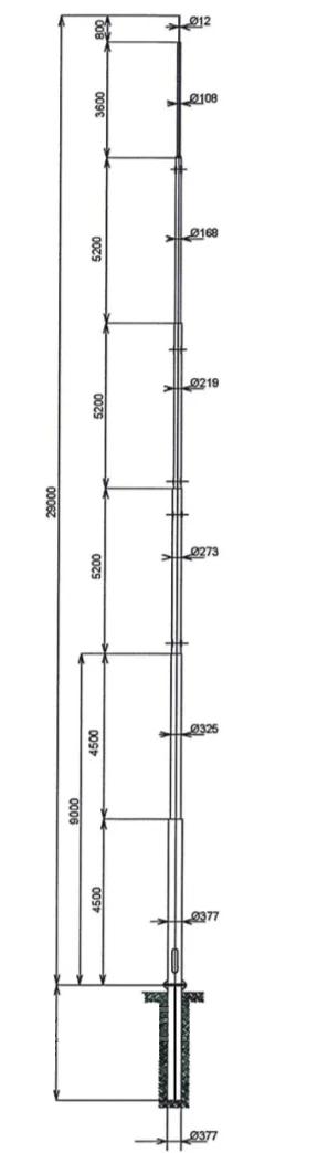 Опоры двойного назначения для сотовой связи ОДН-29