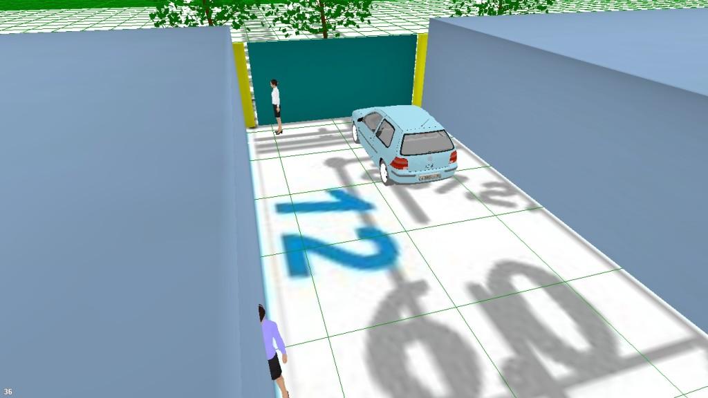 Рис.1 Участок территории в 3D