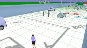 Рис.2 Участок территории в 3D