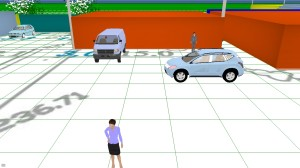 Рис.3 Участок территории в 3D
