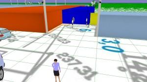 Рис.4 Участок территории в 3D